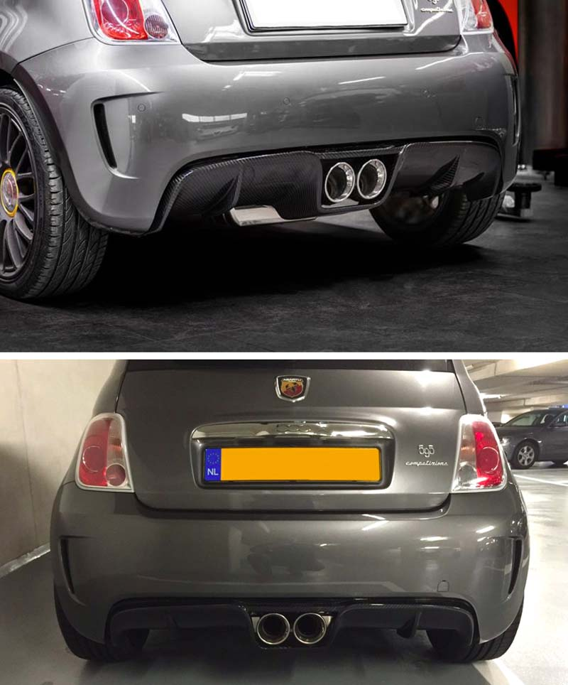 Carbon Abarth Central Exhaust Diffuser Koshi Group Llc