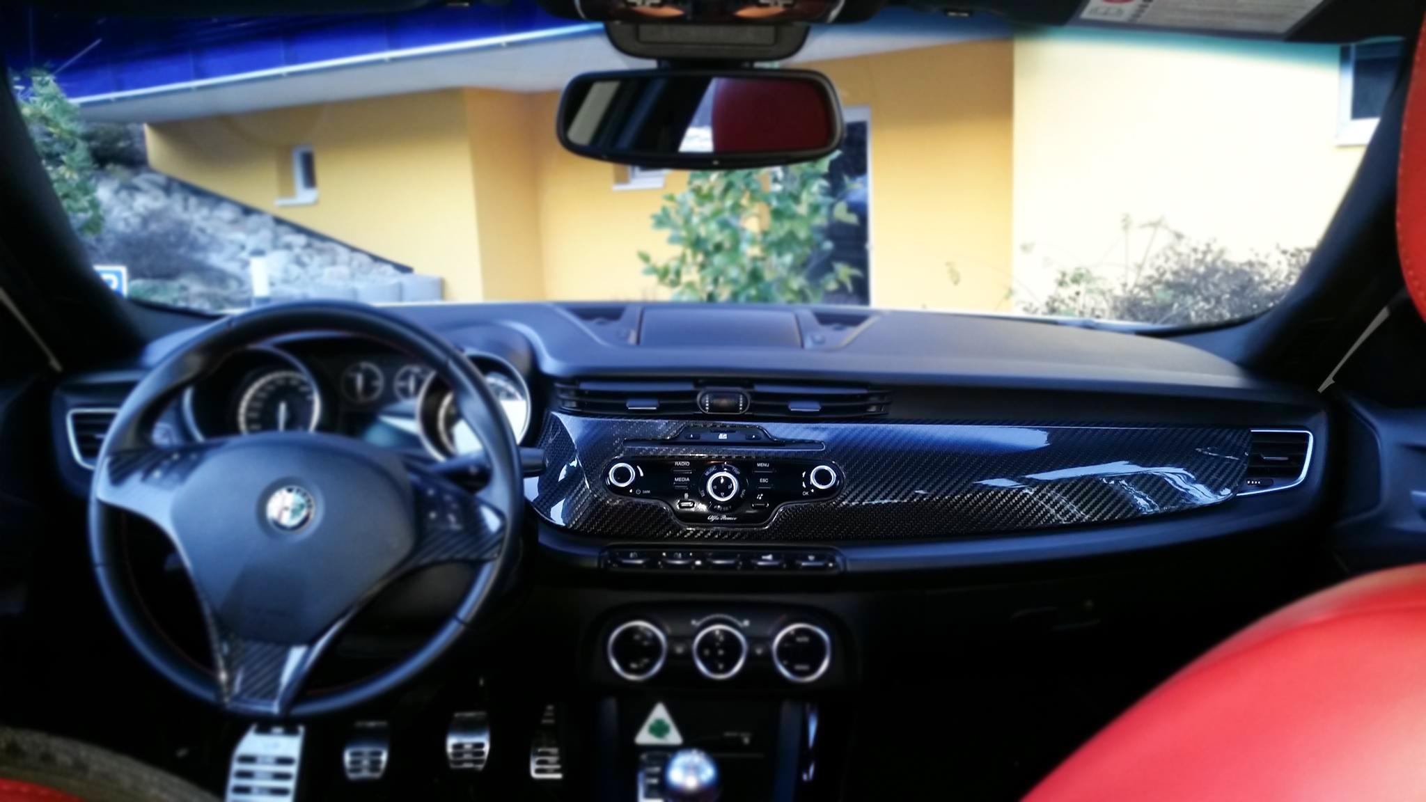 Alfa romeo giulietta carbon fibre parts 16