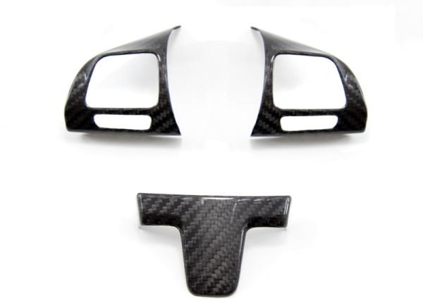 Carbon fiber Volkswagen Golf mk6 steering wheel trim covers