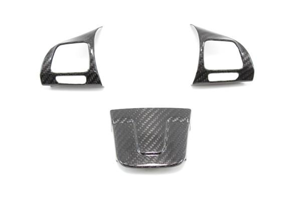 Carbon fiber Volkswagen Golf mk6 steering wheel trim covers vers.2