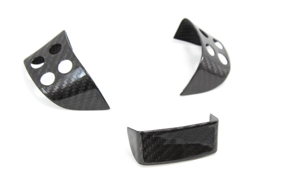 Carbon fiber VW GOLF mk5 steering wheel insert set