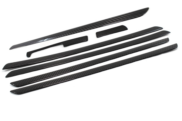 Carbon fiber VW Golf 5 door and dash trim covers set