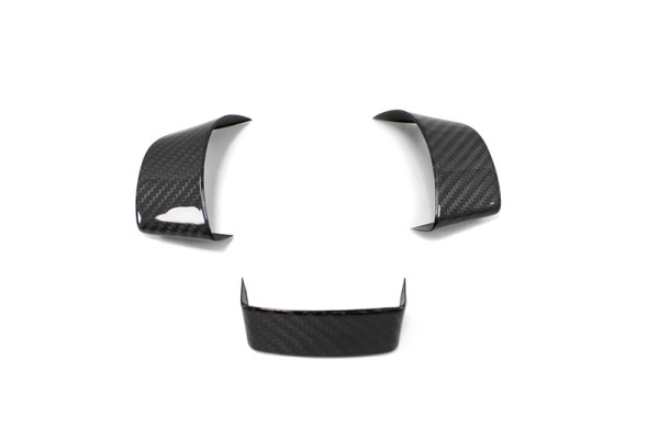 Carbon fiber VW Golf 5 steering wheel trim set