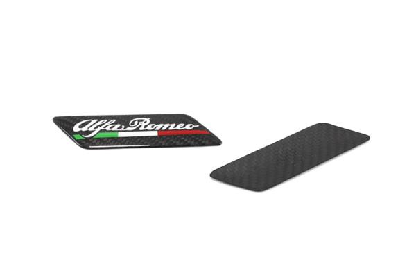 Carbon fiber Alfa Romeo fender emblem