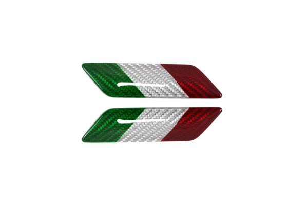 Carbon fiber ITALIAN flag fender