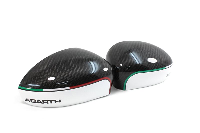Carbon Fiber Fiat 500 Abarth Mirror Caps W Abarth Writing