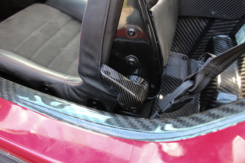 carbon fiber alfa romeo 4c seat adjustment handle sku ar4c 035 koshi group llc. Black Bedroom Furniture Sets. Home Design Ideas