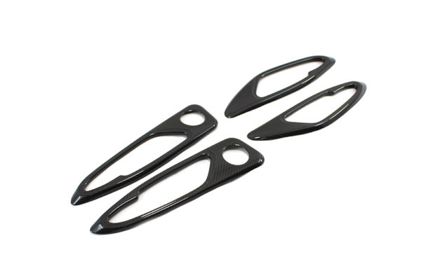 Carbon fiber Alfa Romeo Giulia internal door handles frame trim